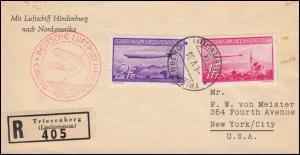 Zeppelin LZ 129 Hindenburg nach Nordamerika Zuleitung R-Bf. TRIESENBURG 4.5.1936
