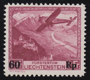 Liechtenstein 148 Postflug, ungebraucht