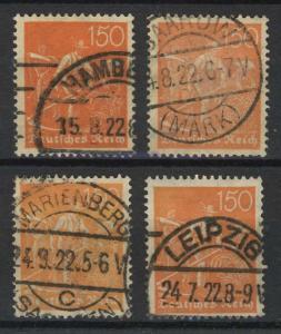 189 Schnitter 1922: vier Farbvarianten - markant, gest.