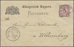 Bayern Postkarte ROTHENBURG/Tauber 3.6.86 nach WEISSENBURG/Sachsen 36.86