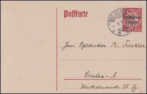 Bayern P 104 Wappen Volksstaat Bayern DV 19: BAD STEBEN 1.8.19 nach Dresden