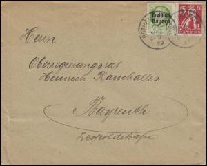 Bayern Brief ROTHENBURG / Tauber 24.3.20 an Regierungsrat Rauchaller in Bayreuth