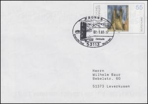 Plusbrief USo 45 Feininger, SSt Bonn World Net Zentrum 2.1.2003
