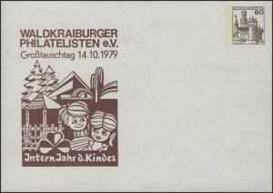 Deutschland Privatumschlag 114/35 BuS 60 Pf Waldkraiburger Philatelisten GTT, **
