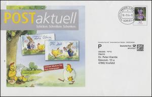 Plusbrief Blume Schwertlilie POSTaktuell Cartoon Ihre Osterpost WEIDEN 10.3.2014