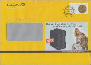 Plusbrief F241 Goldene Bulle Werbung für Vordruckalben, WEIDEN 3.9.07