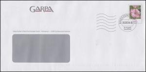 Plusbrief Blume Malve 25 Cent GARPA Escheburg, Briefzentrum 21 - 2014, codiert