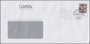 Plusbrief Blume Tausendgüldenkraut 28 Cent GARPA BZ 21 - 2015, VD in Aussparung