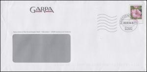 Plusbrief Blume Malve 25 C.- GARPA Escheburg, Briefzentrum 21 - 2014 und codiert