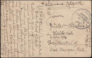 Marinefeldpost MARINE-SCHIFFSPOST No. 49 SMS Friedrich der Große auf Militär-AK