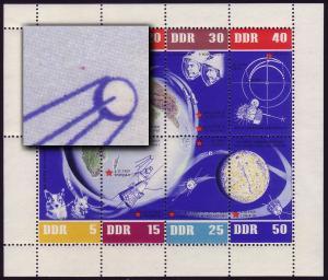 926-33 Weltraumflug-KB ndgz. 928: roter Punkt oben, **