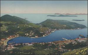 Ansichtskarte Dubrovnik/Kroatien: Blick auf Stadt und Meer, Dubrovnik 1928