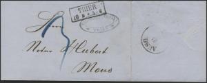 Preußen Brief Trier 19.9.1861 nach Mörs/Moers