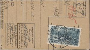 118 Burbacher Hütte als EF auf Briefstück aus NN-Karte VÖLKLINGEN 6.2.1931