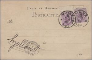 40 Ziffer 5 Pfennig mit Leerfeld, MeF auf Postkarte MAINZ 3 - 6.5.89