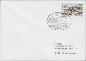 1554 Verkehrssicherheit & Straßenbahn in Gotha, Brief SSt Gotha 2.5.1994