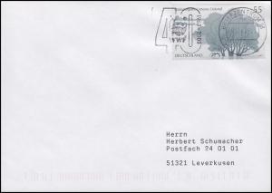 40 Jahre WWF Pandabär & Nationalpark Unteres Odertal, EF Brief BZ 13 - 9.10.2003