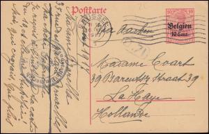 Belgien Postkarte P 11I Germania Zensur Auslandsstelle Emmerich Brüssel 16.8.17