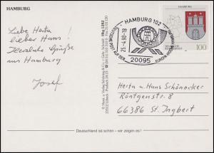 1591 Hamburg EF AK Hansestadt mit 6 Ansichten SSt Hamburg Europa-Woche 25.4.1998