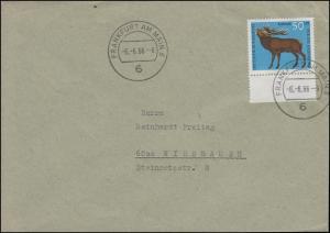 Besonderer Stempel: 66 SAARBRÜCKEN 6 - 6.6.66 - 6 auf Brief mit 514 als EF