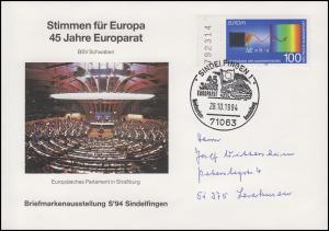 45 Jahre Europarat - Stimmen für Europa EF Bf SSt Sindelfigen Europarat 28.10.94