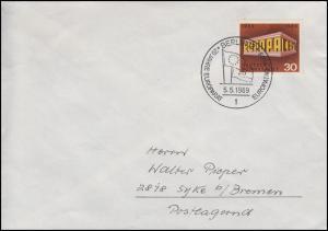 584 Europa & CEPT, EF Brief SSt Berlin 20 Jahre Europarat & Europatag 5.5.1969