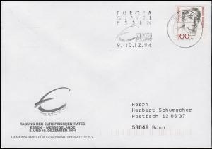 Europa Gipfel in Essen & Tagung Europäischer Rat, EF Brief Essen 9.12.1994