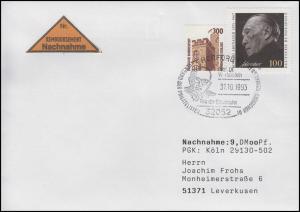 1601 Konrad Adenauer, MiF NN-Bf SSt Herford Europa & Walter Hallstein 31.10.1993