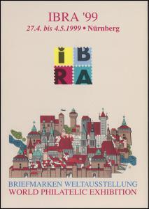 IBRA-Klappkarte Nürnberg 1999 mit SSt FORCHHEIM IBRA-Zirkus auf Tour 16.4.1999