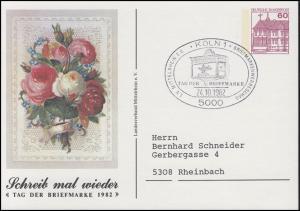 Privatpostkarte PP 106/94 LV Mittelrhein Tag der Briefmarke SSt Köln 24.10.1982