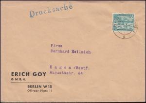 121 Berliner Bauten EF auf Drucksache BERLIN-CHARLOTTENBURG 5.11.1954 nach Hagen