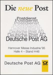 1724 Europa-Wahl 1994 in Klappkarte Deutsche Post AG SSt HANNOVER MESSE 3.4.1995