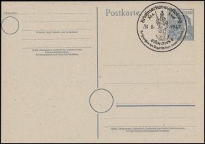 P 962 Arbeiter 12 Pf. SSt MÜNCHEN Briefmarkenausstellung & Rotes Kreuz 31.8.1947