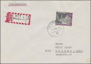 226 Alt-Berlin 70 Pf Parchiakirche R-Brief MÜNCHEN 27.2.64 nach Dülken 29.2.64