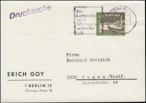 219 Alt-Berlin Waisenbrücke auf Drucksache Adressenänderung, BERLIN Oktober 1963