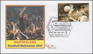2578 Handball-WM Schmuck-Bf SSt Gewinner Herren-Mannschaft Deutschlands 4.2.2007