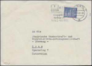 149 Berliner Stadtbilder 40 Pf. EF Brief Kriegsgräberfürsorge BERLIN 11.5.59