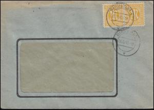 AM-Post 2x 6 Pf. MeF Fensterbrief DARMSTADT 1 v - 6.12.45