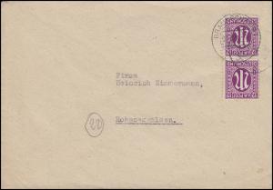 AM-Post 2x 12 Pf. MeF Fern-Brief von BRAUNSCHWEIG 7.3.46 nach Hoheneggelsen