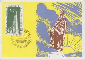 566 Mahnmal Ravensbrück 5 Pf. auf Maximumkarte / FDC ESSt BERLIN 25.4.1957