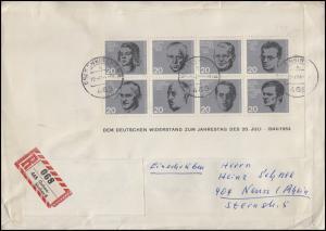 Block 3 Attentat 20.Juli 1944 EF auf R-FDC Gelsenkirchen 20.7.64 nach Neuss