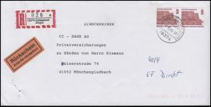 1562 SWK 400 Pf Semperoper Dresden mit Nummer 260 MeF R-Bf mit RS ZINGST 17.5.96