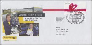 2223 Grußmarke EF Werbebrief Versandzentrum Weiden SSt WEIDEN 15.12.01 nach Köln