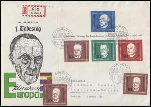 Block 4 Konrad Adenauer MiF mit 2x 554 auf Schmuck-FDC ESSt Bonn 19.4.1968