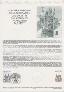 Collection Historique: Nationaler Philatelisten-Kongress Nancy 17.5.1986