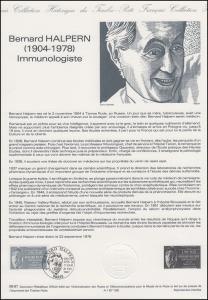 Collection Historique: Immunologe und Pharmakologe Bernard Halpern 21.2.1987