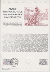 Collection Historique: Internationale Jahr der Behinderten 7.11.1981