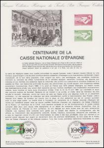 Collection Historique: Caisse Nationale d'Epargne - Postsparbank 21.9.1981