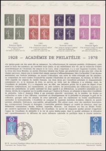 Collection Historique: Académie de Philatélie Akademie der Philatelie 7.10.1978