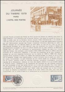 Collection Historique: Tag der Briefmarke - Postamt Paris 10.3.1979